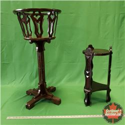 """2 Plant Stands (Large = 33""""H) (Small = 19"""")"""