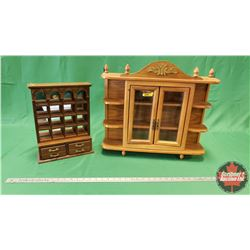 """Small Table Top Curio Cabinets (Large = 19""""H ) (Small = 14""""H)"""