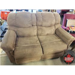 "Microfiber Love Seat (Brown) (38""H x 61""W x 36""D)"