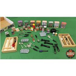 Tray Lot - Miniatures Kitchen/Pantry Theme - Variety