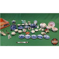 Tray Lot - Miniature China/Tea Sets - Variety !