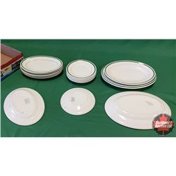 Tray Lot - Diner/Hotel Ware (Stamped Grindley England) : Platters & Plates (16pcs)