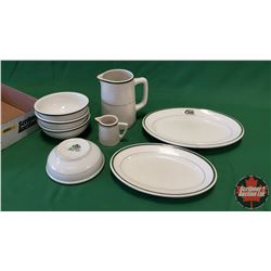 Tray Lot - Diner/Hotel Ware (Stamped John Maddock & Sons Marshall Wells England) : Platters, Bowls,