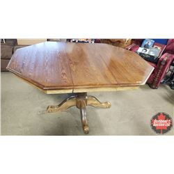 """Pedestal Dining Room Table with 1 Leaf (Table 60""""L x 44""""W x 30""""H)"""