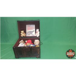 """Small Trunk/Chest (15""""H x 18.5""""W x 14""""D) with Plush Bear Toys & The Biggest Bear Hardcover Book"""
