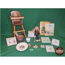 Peter Rabbit & Bunnykins Collection : Books & Toys with Small High Chair