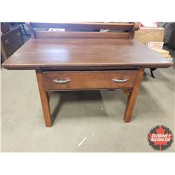 "Short Table with Drawer (22""H x 40""W x 26""D)"