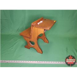 "Very Small Wood Students Desk (14""H x 15""W x 11.5""D)"