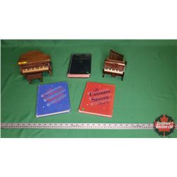 Musical Group: Small Baby Grand Piano Music Box - Wind up (Plays Small World) & Small Electric Music