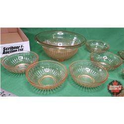 Tray Lot - Pink Depression Glass - Large Variety : Covered Butter Dish, Ashtray, Candy Bowl, Bowls (