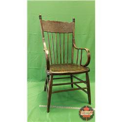 "Press Back Arm Chair (42""H x 20""W x 18""D)"