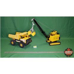 Tonka Toys (2): Crane & Dump Truck