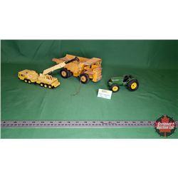 Small Industrial Toys (3): Haulpak Dump Truck, John Deere Tractor, Taylor Woodrow Crane