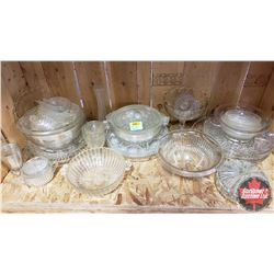 Large Collection of Clear Glassware!