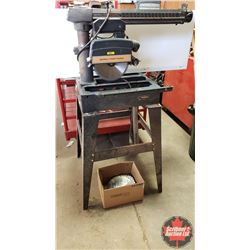 "Sears Craftsman 10"" Radial Arm Saw on Stand with 8 Extra Blades (56""H x 28""W x 35""D)"