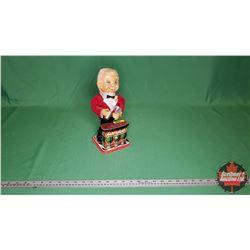 "Bartender Mechanical Tin Toy (11""H)"