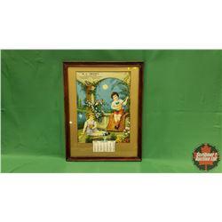 Framed Calendar (Unused) 1942 - Warman, Sask - General Store