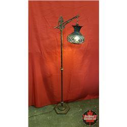 Floor Lamp - Copper Shade/Holed Design (57 H)