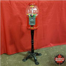 "Gumball Machine - Glass Globe - Cast ""look"" Base (38""H)"