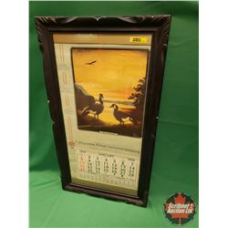 Framed Wawanesa Unused Calendar 1939