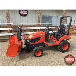"""2010 Kubota 4WD Tractor Model BX2660 (Shows 740 Hours) comes with 50"""" Snowblower Attachment BX2750D"""