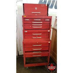 """Beach Roll Cabinet Tool Box - 3 Pc (Complete 58""""H x 28""""W x 18""""D)"""