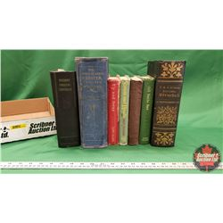 Tray Lot - Antique Hardcover Books (7) (Incl: All Sails Set, Up and Away, Modern Medical Counselor,