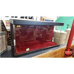 """Showcase (converted from Fish Tank) (21""""H x 38""""W x 12""""D) (Note: Small Crack in Glass)"""
