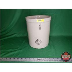 Medicine Hat Potteries 1 Gallon Crock - Sleepy Indian Stamp (No Lid)