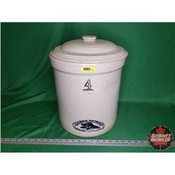 The Albert-Potteries Ltd. Redcliff Alta Canada Crock 4 Gallon + Lid