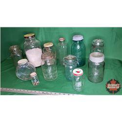 Tray Lot: Jars - Variety (Size/Styles) (12)