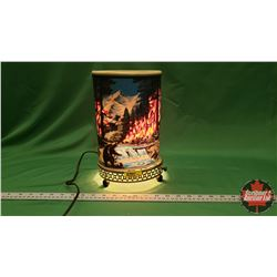 Vintage Motion Lamp : Forest Fire (Waterfall & Bear)