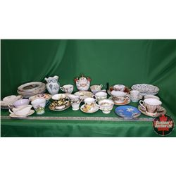 Box Lot: Collection of Chinaware (Mostly Tea Cups/Saucers)