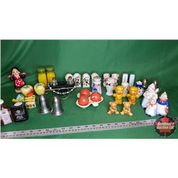 Tray Lot: Salt & Pepper Shaker Collection - Must Look - Rare Pieces Included (Approx 31 Items)