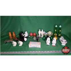 Tray Lot: Salt & Pepper Shaker Collection (Approx 28 Items) (including Budweiser Shakers in Box)