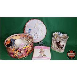 Miniature Vintage Bathroom Set + Woodland Creatures Cookie Jar & the Book of Birthdays