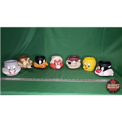 Tray Lot: Loony Toons Character Mugs (Daffy, Wylie, Bugs, Sylvester, Tweety, Taz, Yosemite)