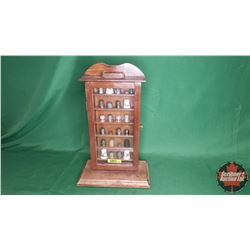 """Thimble Collection with Display Cabinet (15""""H)"""