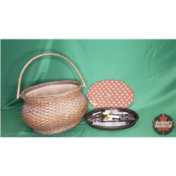 Sewing Basket with Contents!