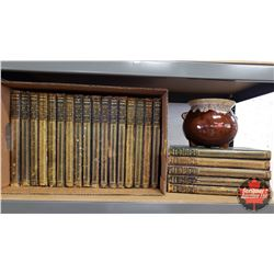 Complete Set of Encyclopedia Britannica - Eleventh Edition (22 Books) 1910-1911 + Décor Bean Pot
