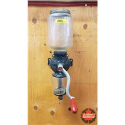 """Arcade Crystal"" Wall Mount Coffee Grinder (Jar Embossed ""Crystal No. 3)"