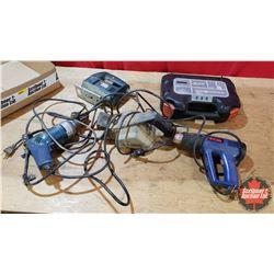 """Tray Lot - Power Tools: Rotary Tool, Jig Saw, Heat Gun, 3/8"""" Drill, Belt Sander"""