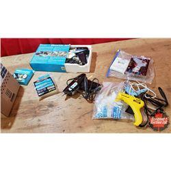 Box Lot: 4 Glue Guns & Variety of Glue Sticks