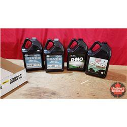 Tray Lot - New Oil 5L Jugs : 1 Diesel Motor Oil 10W30 & 1 Diesel Motor Oil 5W30 Synthetic Blend & 2