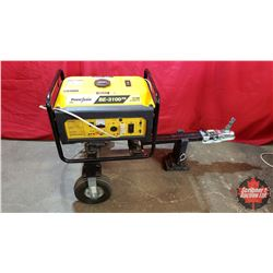 Power-Ease 3100 Watts Gas Generator AC-DC Mounted on Hitch & Wheels