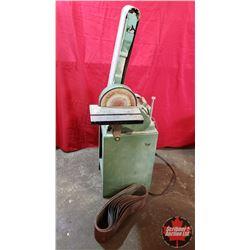 Belt/Disc Sander 3/4HP 1720RPM (10 Extra Belts) On Stand