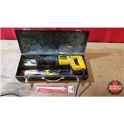 Dewalt Reciprocating Saw in Metal Case with Variety of Blades