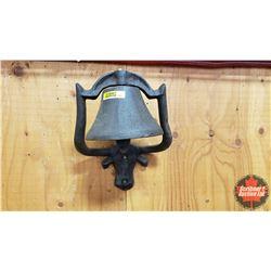"""Cast Iron Wall Mount Bell """"Texas Long Horn"""" (10""""H x 9""""W x 9""""D)"""