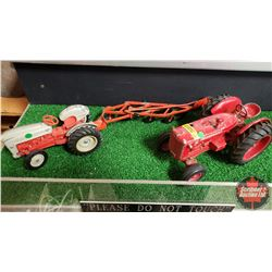 1/16 Scale Die Cast Toy Combo: Ford 8N Jubilee, 4 Bottom Plow, McCormick WD-9
