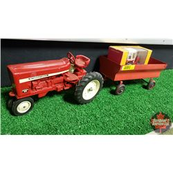 Farm Toy Combo: IH Farmall 544 & Wagon 1/16 Scale & Belarus Tractor 1/43 Scale & IH Watch Fob